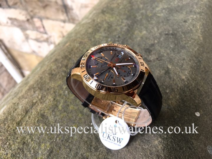 UK Specialist Watches have a beautiful 18ct Rose Gold Chopard Mille Miglia GMT Chrono - 1267