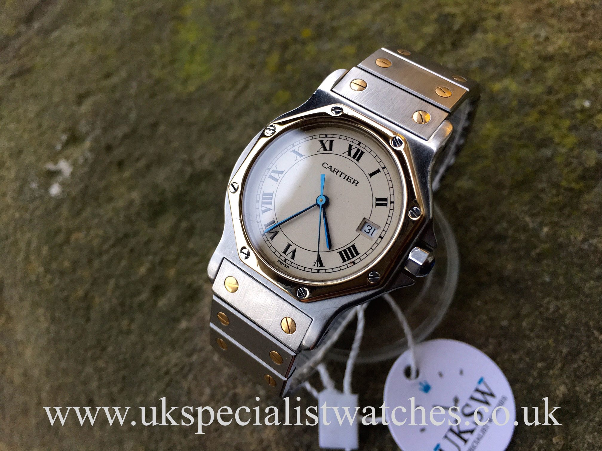 3ca333e9b31 UK Specialist Watches have a unisex Cartier Santos Ronde Steel   18ct  yellow gold - 187902