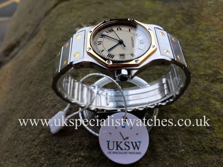 UK Specialist Watches have a unisex Cartier Santos Ronde Steel & 18ct yellow gold - 187902