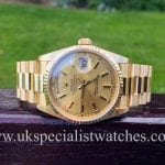 UK Specialist Watches have a stunning Rolex Day Date President in 18ct Gold - 18238