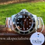 UK Specialist Watches have a highly collectable Rolex Submariner Non-Date - Full Set - 14060M