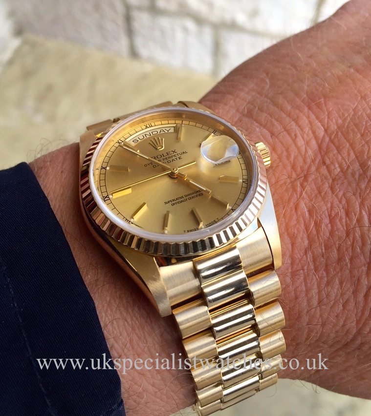 Rolex Day Date President 18ct Gold Gents 18238 Uk