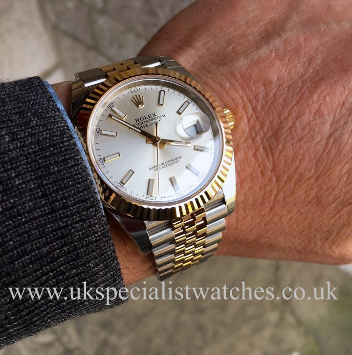 UK Specialist Watches have a brand new Rolex Datejust 41 in stainless steel & 18ct yellow gold with a silver dial - 126333