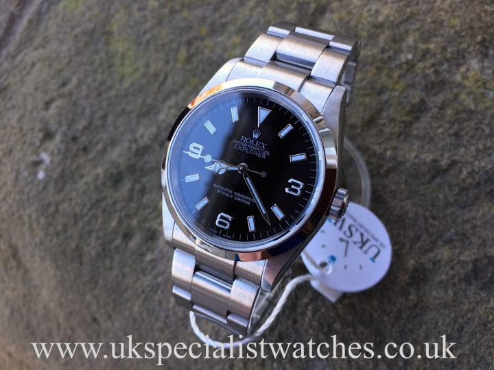 UK Specialist Watches have a Rolex Explorer 114270 in stainless steel, just serviced!