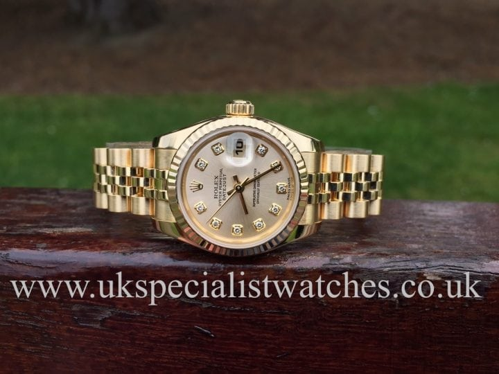 UK Specialist Watches have a new model Rolex Lady Datejust with Gold Jubilee bracelet and diamond dial - 179178