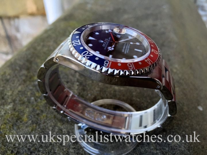 UK Specialist Watches have a full set pristine Rolex GMT Pepsi in stock.