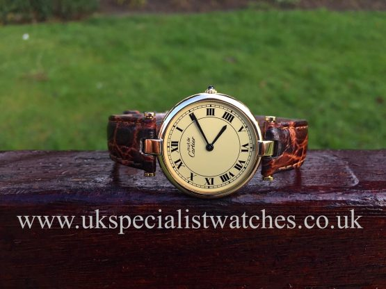 UK Specialist Watches have a Cartier Must De Vermeil Ladies 30mm