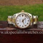 UK Specialist watches have a mid size 31mm Rolex Date Just on a Oyster Bracelet
