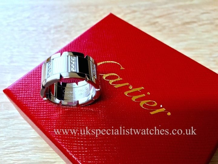 UK Specialist Watches have a magnificent Cartier Diamond Ring - Tank Française - Cartier Diamond set