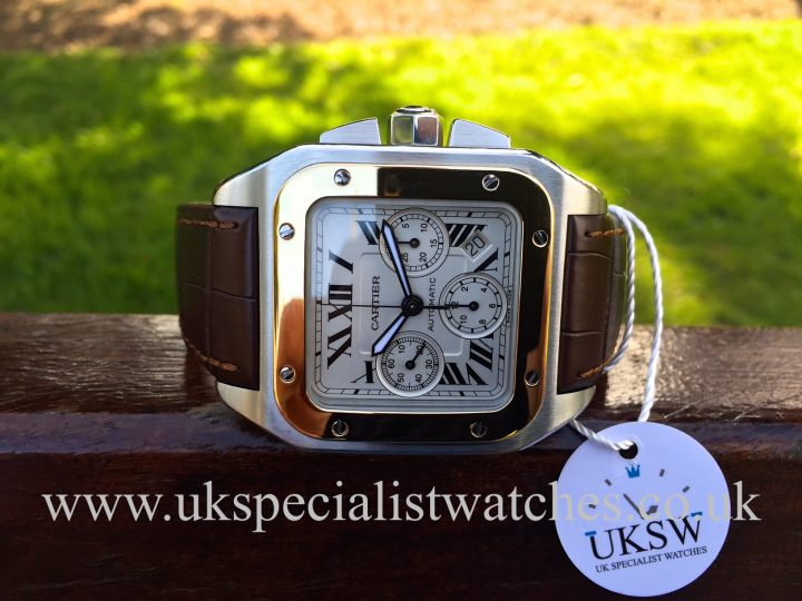 UK Specialist Watches have a Bi Metal Cartier Santos 100 XL W20091X7