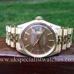 for sale at uk specialist watches Rolex Datejust 18ct Gold 1969 Vintage 1601