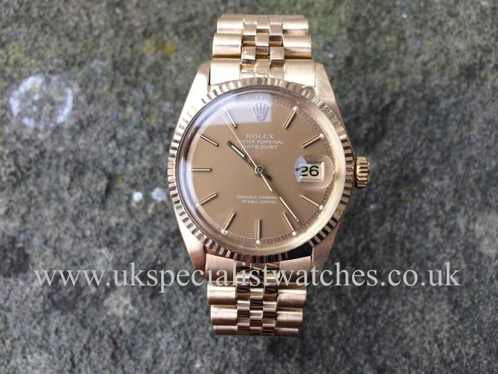 Rolex Datejust 18ct Gold 1969 Vintage 1601