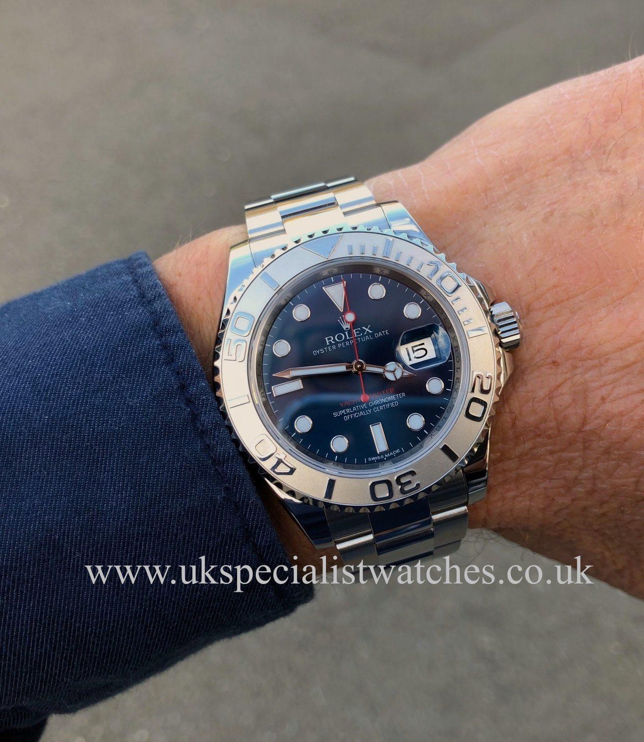 Rolex Yacht,Master Blue Dial Platinum Bezel , Steel , 116622