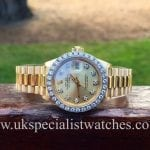 UK Specialist Watches have a totally original Rolex Lady-Date Just President 18ct Gold with factory Diamond Bezel-6917