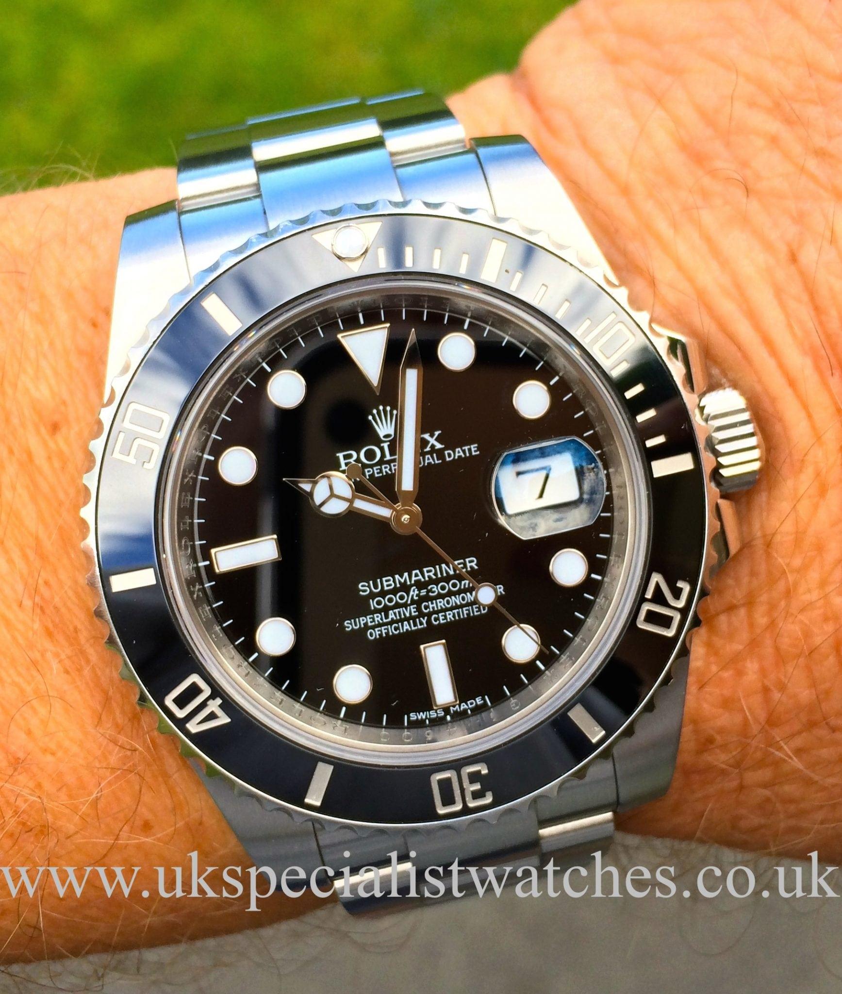 Rolex Submariner Date Ceramic Bezel 116610ln Uk