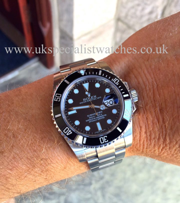 UK Specialist Watches have a New Model Rolex Submariner Date with the new Ceramic Bezel - 116610LN