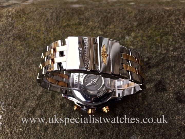 UK Specialist Watches have a stunning Steel & Gold Breitling Chronomat Evolution with a factory Breitling Diamond Bezel - B13356