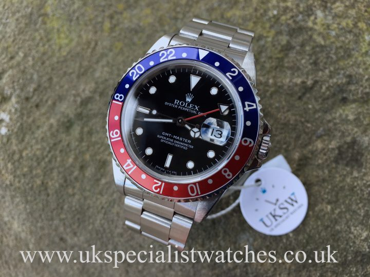 UK Specialist Watches have a beautiful rare Rolex GMT Master Pepsi Bezel 16700 Swiss T