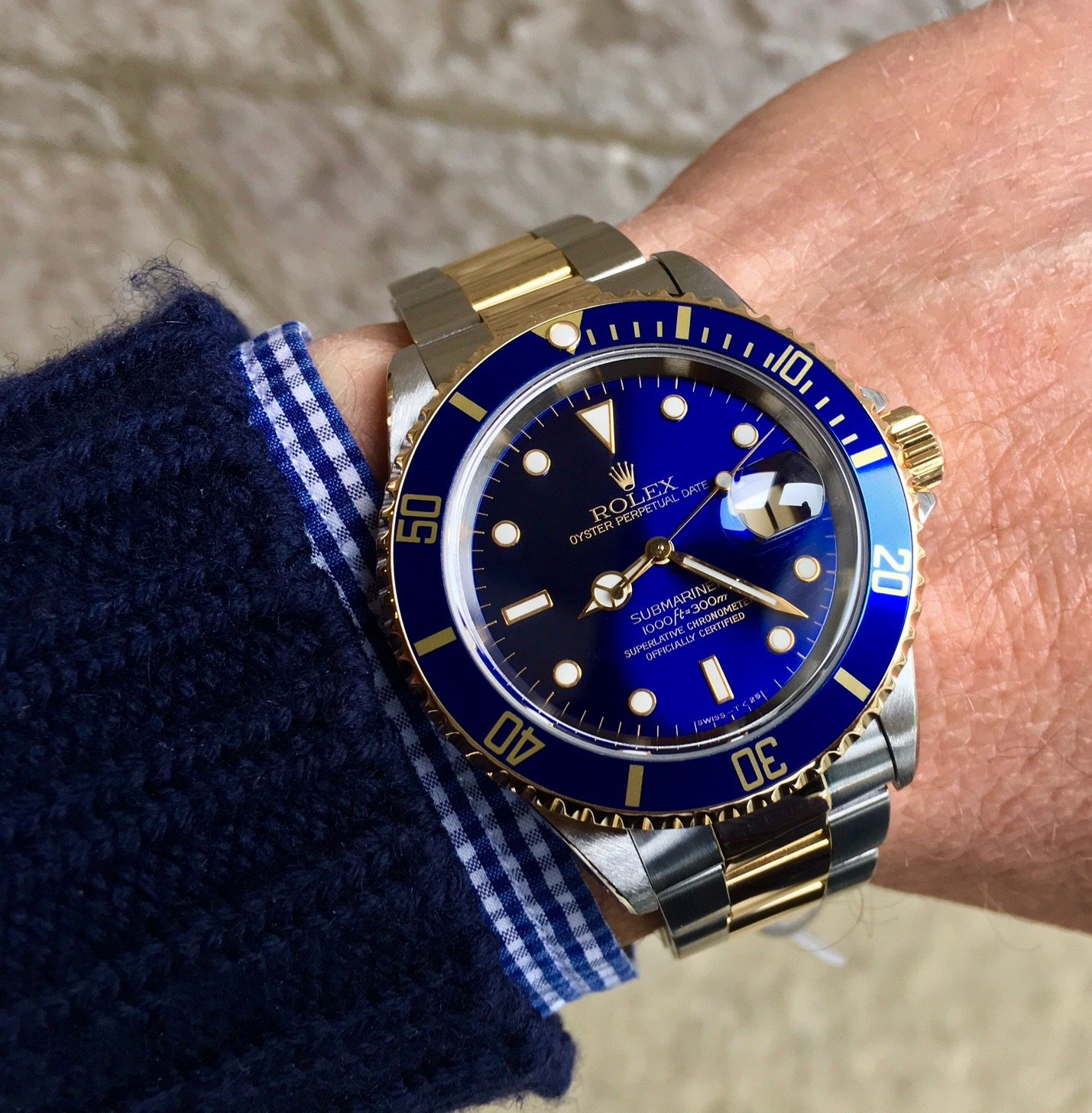 Rolex Submariner Date Steel & Gold - 16613 - Blue Swiss T