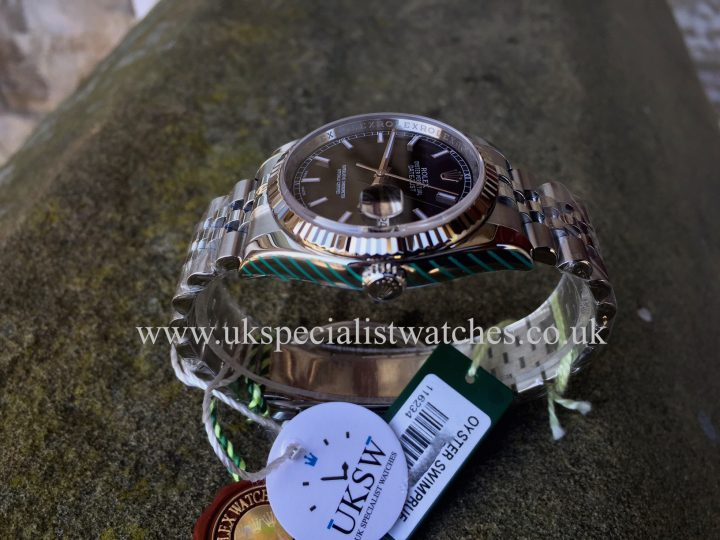 UK Specialist Watches have a Black Dial Stainless Steel Datejust 116234