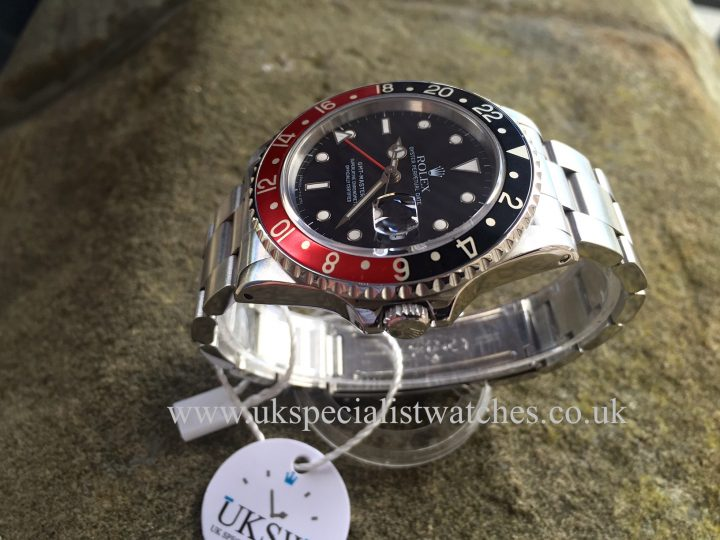 UK Specialist Watches have a Vintage Rolex GMT Master II dated from 1989 - 16710