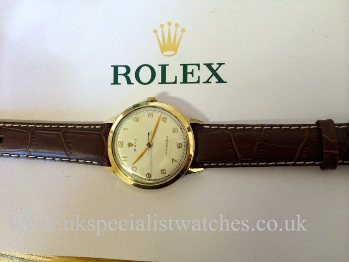 For sale at UK Specialist Watches Rolex Shock Resisting 9ct Gold 36mm Vintage 1952 Rolex