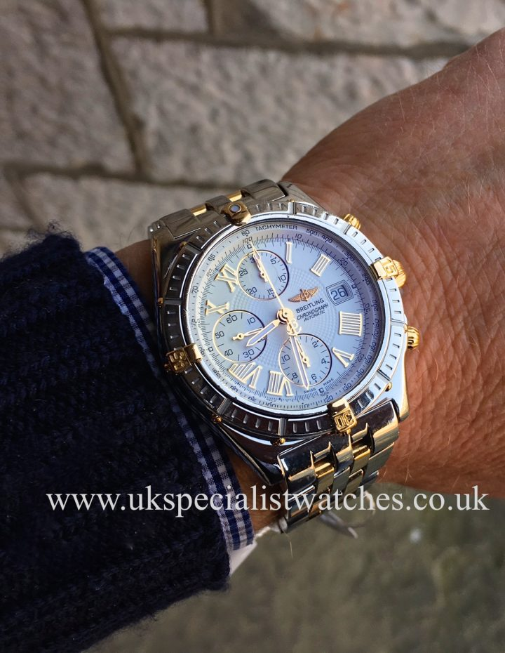 UK Specialist Watches have a Breitling Crosswind - Chronomat - Steel & 18ct Gold - B13355