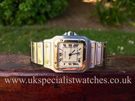 UK Specialist watches have a lovely Gents Cartier Santos Galbee in Steel & Gold complete with box and papers - 187901