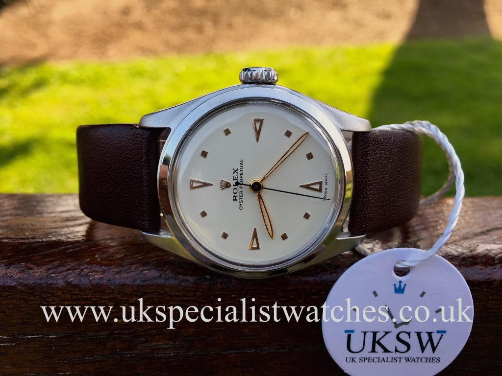 Rolex Oyster Perpetual 6144 – Super + Oyster Crown – Vintage 1952