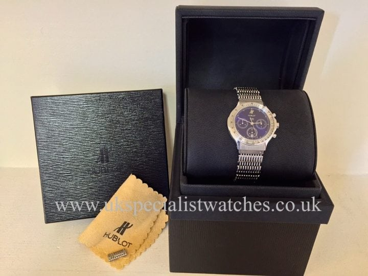 UK Specialist Watches have a Hublot MDM Chronograph with a stunning Electric Midnight Blue Dial-1621.1