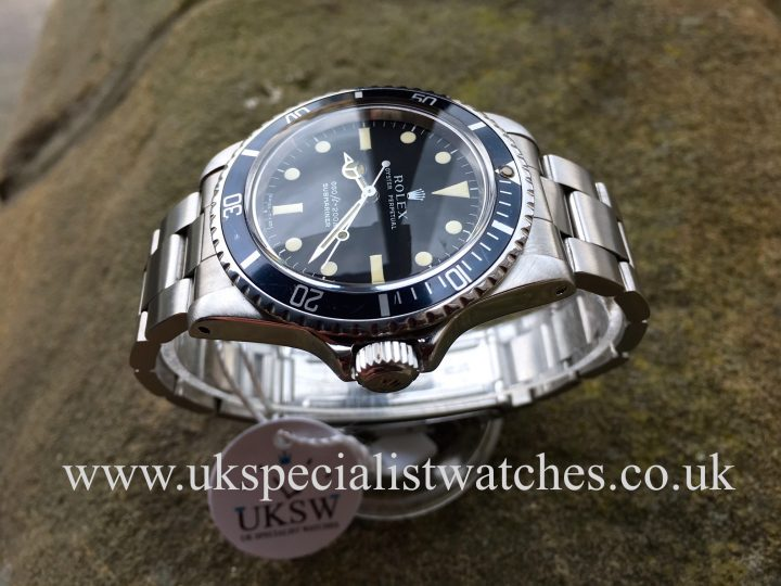 UK Specialist Watches have a rare vintage 1978 Rolex 5513 Submariner with a rare serif dial.