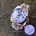 UK Specialist Watches have a Rolex Datejust Midsize 31mm with a mother of pearl diamond dial 178240.