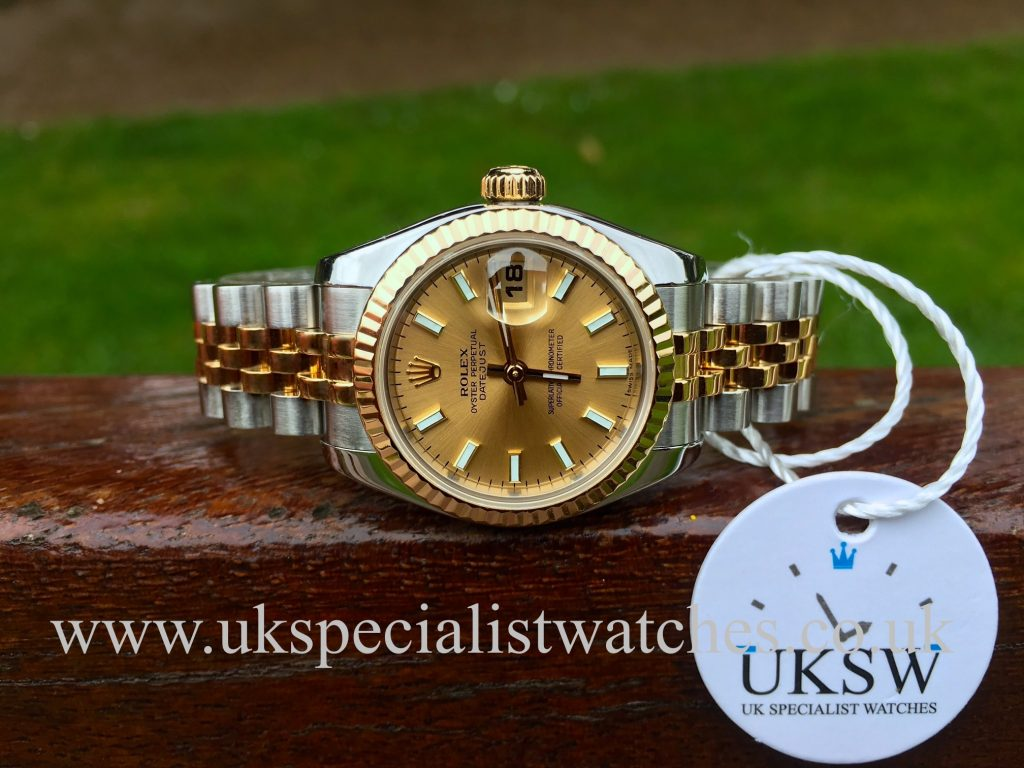 Rolex Lady-Datejust – Steel & 18ct Yellow Gold – 179173