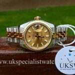UK Specialist Watches have a new model Ladies Rolex Datejust in steel and 18ct yellow gold 179173