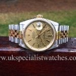 UK Specialist Watches have a lovely Rolex Date-just with rare Jubilee dial - Gents 36mm - 16233