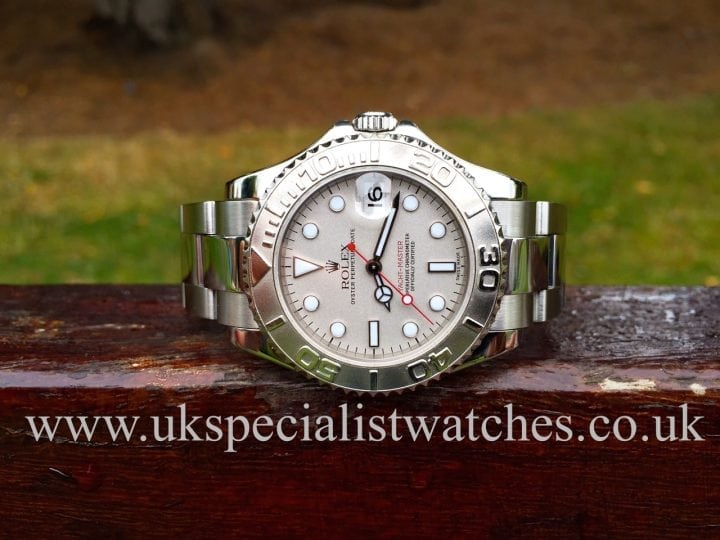 UK Specialist Watches have a Mid size yachtmaster complete with all box and papers.