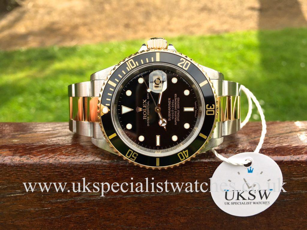 Rolex Submariner Date Black – Steel & Gold – 16613 – Final Edition