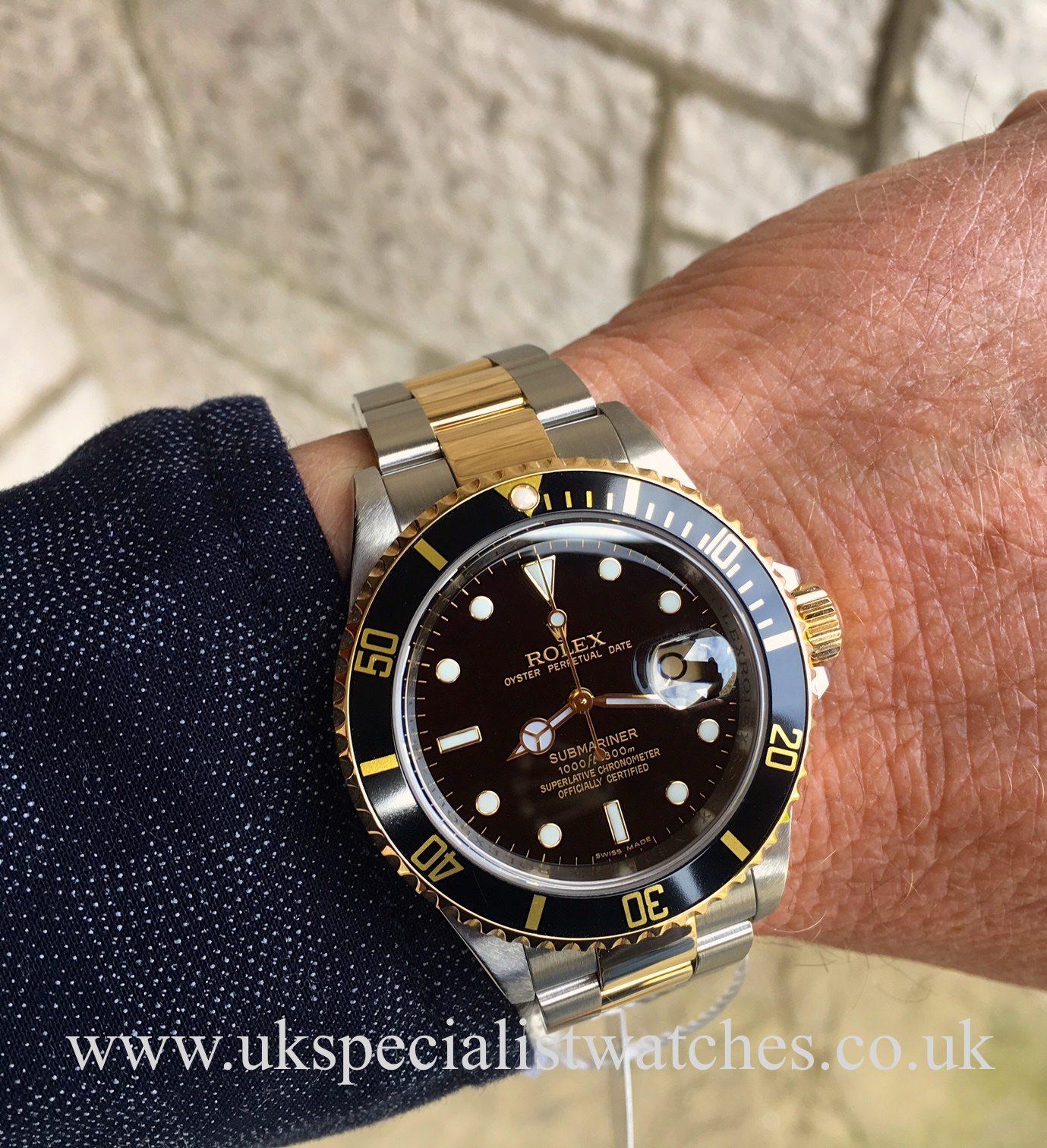Rolex Submariner Date Black – Steel & Gold – 16613 - Final ...