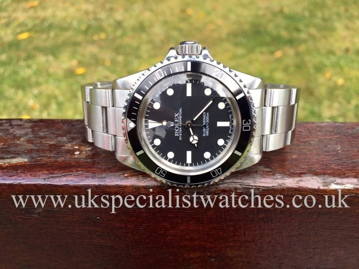 UK Specialist Watches have a extremely rare vintage Rolex Submariner 5513 with the Mk V Maxi Dial - Vintage 1983