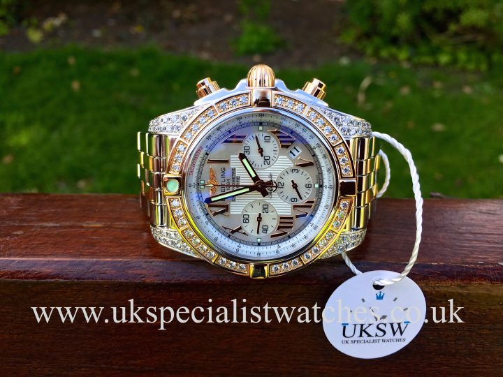 UK Specialist Watches have a Breitling Chronomat 44mm - Steel & 18ct Rose Gold - Diamond Set