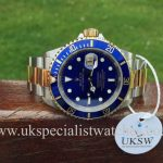 UK Specialist Watches have a final edition bi-metal Rolex Submariner with the blue dial 16613