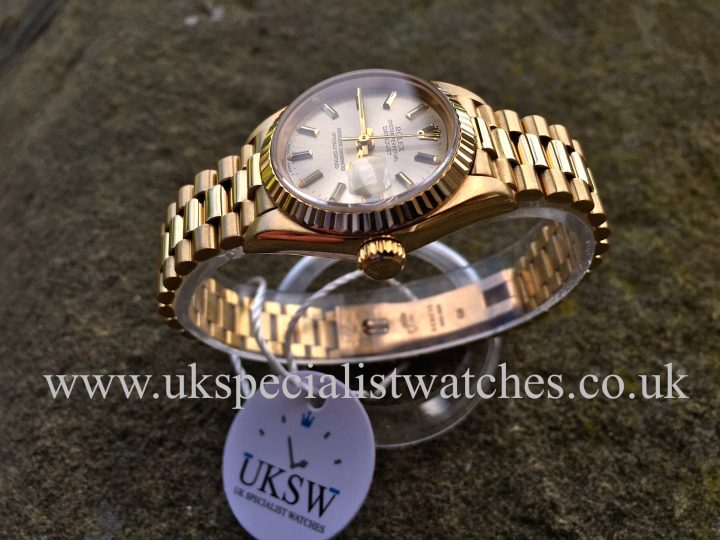 UK Specialist Watches have an 18ct yellow gold ladies date just president 69178