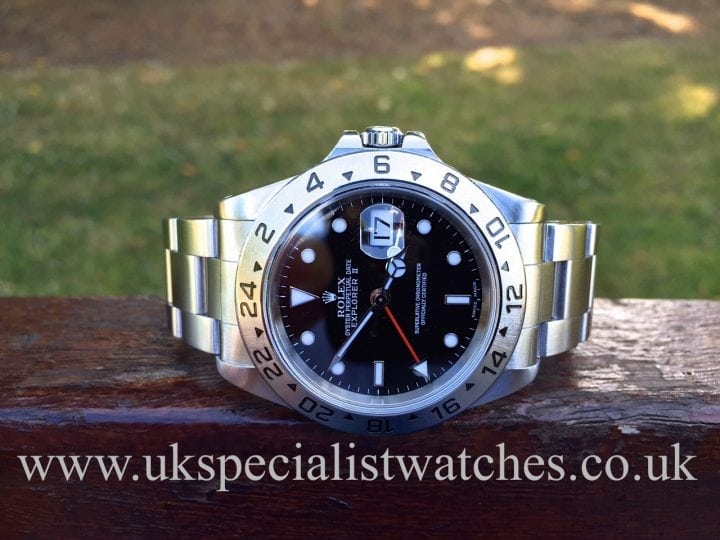 UK Specialist Watches have a Rolex Explorer II with a Black Dial - 16570