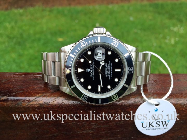 UK Specialist watches have a Rolex Submariner Steel Date 16610 - Swiss T Dial
