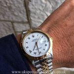 UK Specialist Watches have a Rolex Datejust 16013 with an 18ct yellow gold thunderbird bezel.