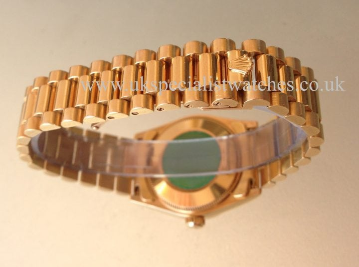 For sale at UK Specialist Watches Rolex Datejust President Mid-Size 31mm 18ct Gold 68278