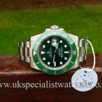 UK Specialist Watches have a new unworn Rolex submariner Hulk 116610LV in stock.