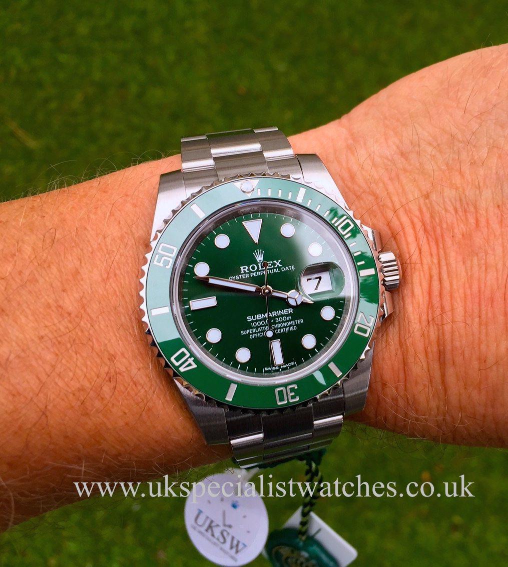 Rolex Submariner \u201cHulk\u201d 116610LV , UNWORN , UNUSED