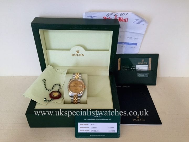 UK Specialist Watches have the latest model Gents Rolex Date just 116233