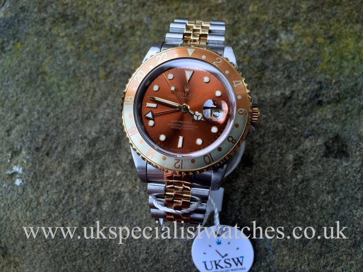 UK Specialist Watches have a vintage 1991 Rolex GMT Master II Root beer 16713